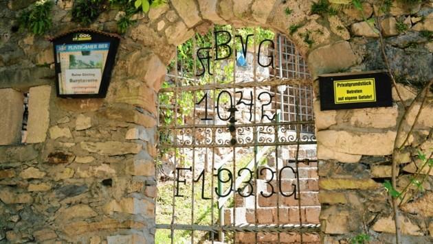 Der Zugang zur Burgruine Gösting ist derzeit verschlossen.