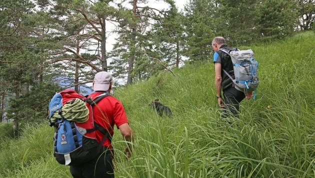 Großaufgebot sucht nach vermisster Wanderin (Bild: Markus Leitner)
