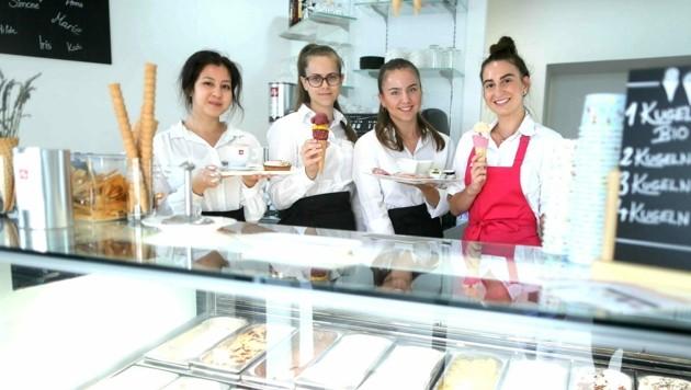 Das freundliche Team des Kaffee und Kornetto ist bereit.