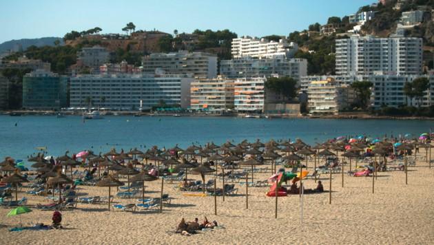 Der Strand von Palma de Mallorca auf der Baleareninsel Mallorca