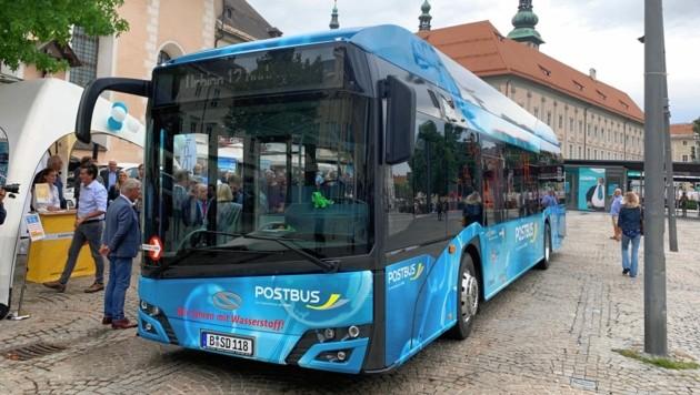 Der Testlauf für H2-Busse in Klagenfurt war erfolgreich. (Bild: Thomas Leitner)