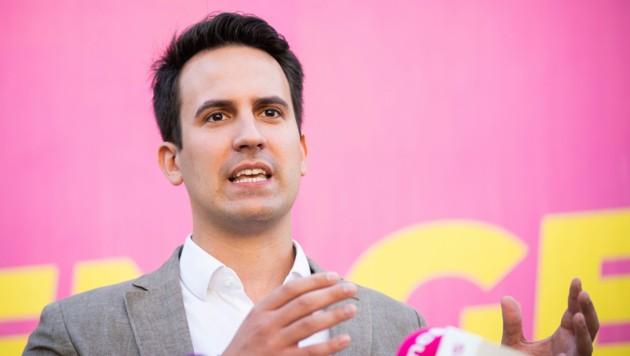 Der Wiener NEOS-Parteichef und Spitzenkandidat für die bevorstehende Wien-Wahl, Christoph Wiederkehr (Bild: APA/GEORG HOCHMUTH)