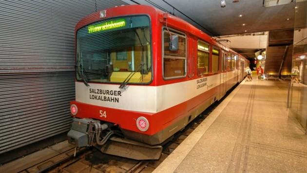 Salzburg, Verkehr, Lokalbahn, UBahn U Bahn Bahnhof Lokalbahnhof (Bild: Markus Tschepp)
