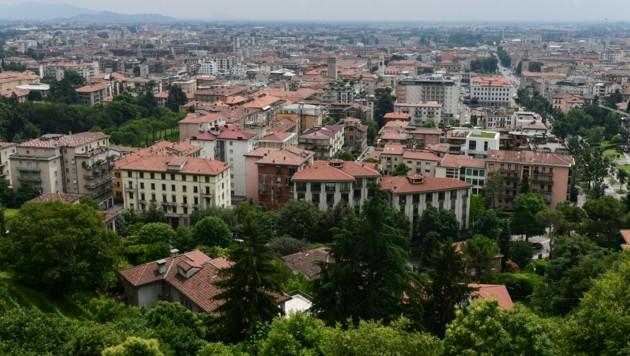 Die italienische Stadt Bergamo