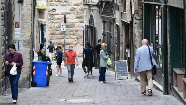 Fußgängerzone in Bergamo