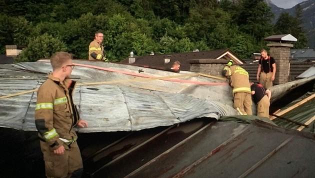 Abgedecktes Dach im Tennengau