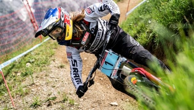 Die Salzburgerin Valentina Höll gilt als große Medaillenhoffnung bei der Mountainbike-WM in Leogang. (Bild: Stefan Voitl)