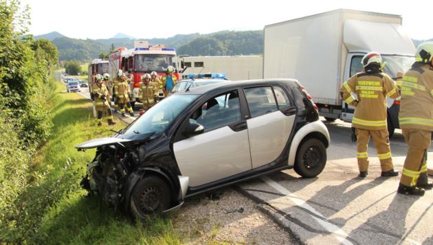 Schwerer Unfall in Thalgau (Bild: FF Thalgau)