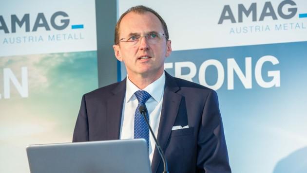 Gerald Mayer ist Vorstandschef der AMAG. (Bild: AMAG Austria Metall AG/APA-Fotoservice/Juhasz)