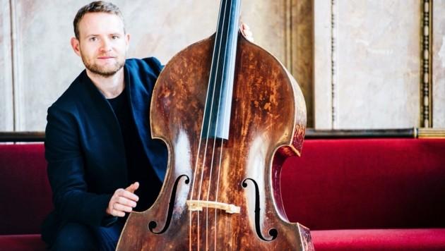 Christoph Wimmer ist Kontrabassist bei einem der besten Orchester der Welt, nämlich bei den Wiener Philharmonikern. (Bild: Franzi Schädel)