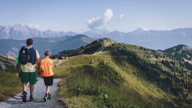 Hitze im Tal, angenehme Temperaturen auf den Bergen – wie hier auf der Schmittenhöhe. (Bild: EXPA/ Stefanie Oberhauser)
