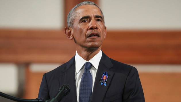 Der frühere US-Präsident Barack Obama hielt eine Trauerrede für den verstorbenen Bürgerrechtsaktivisten und Abgeordneten John Lewis. (Bild: AFP)