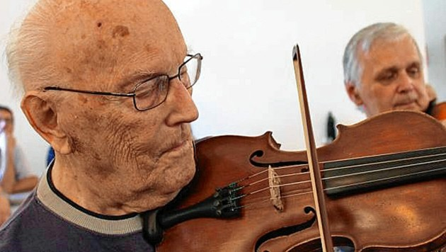 František Hamada war auch Mitglied in einer Reihe von Zimbel-Ensembles. (Bild: Archiv Jan Krupka)