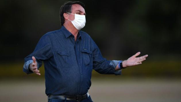 """Jair Bolsonaro: """"Ich bedauere die Todesfälle. Aber Menschen sterben jeden Tag, an vielen Dingen. So ist das Leben."""" (Bild: AFP)"""