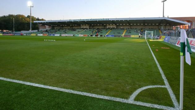 Das Pappelstadion, die Heimstätte des SV Mattersburg