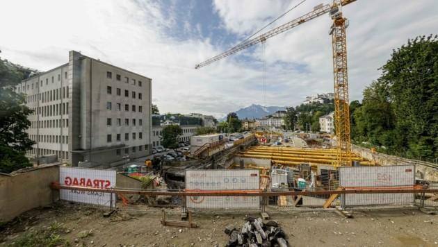 Die Bauarbeiten am Rehrlplatz sind derzeit in vollem Gange (Bild: Tschepp Markus)
