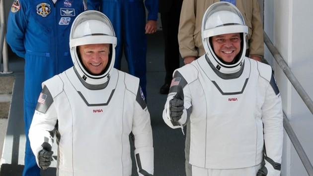 Douglas Hurley (links) und Robert Behnken (hier vor ihrem Start) sind wieder auf die Erde zurückgekehrt.