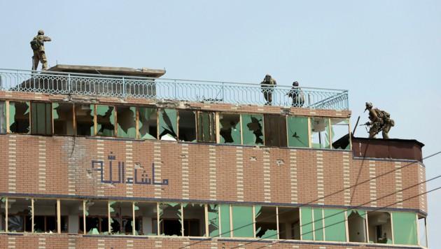In diesem Gebäude verschanzten sich die Angreifer.