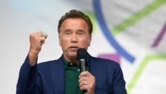 Arnold Schwarzenegger während einer Rede beim Austrian World Summit im Vorjahr (Bild: APA/AFP/ALEX HALADA)