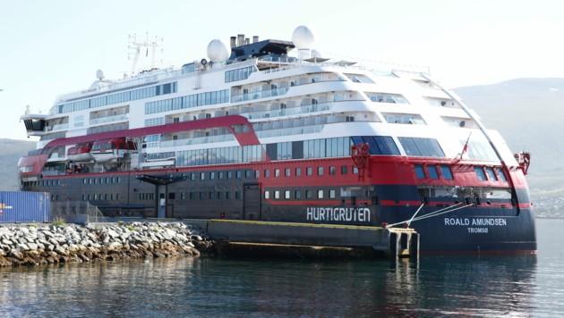 Die MS Roald Amundsen und andere Schiffe der Reederei Hurtigruten werden nicht so schnell wieder eine Expeditionsreise absolvieren. (Bild: AP)