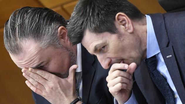 Hans Peter Doskozil (links) und Christian Illedits (Bild: APA/ROBERT JAEGER)