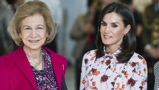 Königin Sofia und Königin Letizia (Bild: Dyd Fotografos / Action Press / picturedesk.com)