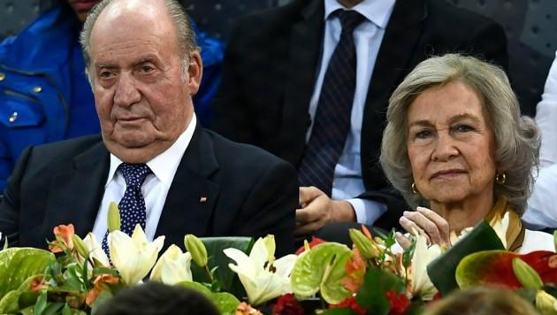 König Juan Carlos und Königin Sofia (Bild: AFP)