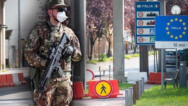 Angesichts zunehmender Migrationsbewegungen von Slowenien nach Italien hat die Regierung in Rom die Entsendung eines zusätzlichen Soldatenkontingents an die Grenzen angekündigt. (Bild: AFP)