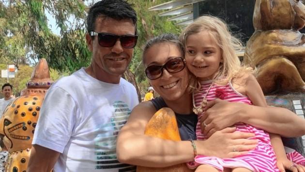 Die Grazerin Conny Wladkowski steckt mit Partner Anthony und Tochter Lola mitten im australischen Lockdown.