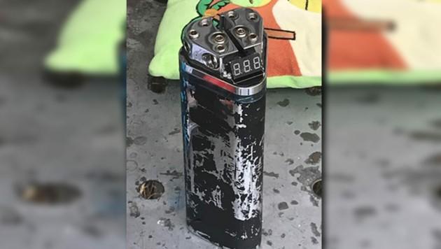 """Dieser """"Pufferkondensator"""" sorgte als vermeintliche Bombe für Wirbel in Wien. (Bild: Polizei)"""