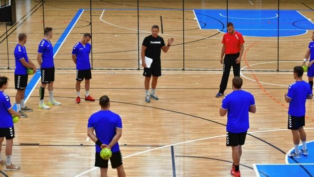 Die Handballer der HSG Graz beim Training. (Bild: Foto Ricardo; Richard Heintz 8010 A-Graz)