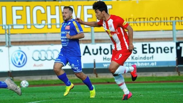 Christoph Kröpfl (li.) läuft in der nächsten Saison für Zweitligist Lafnitz auf. (Bild: Sepp Pail)