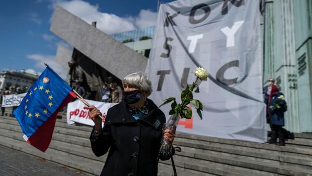Polens Rechtsstaat steht erneut unter Kritik. (Bild: Wojtek RADWANSKI / AFP)