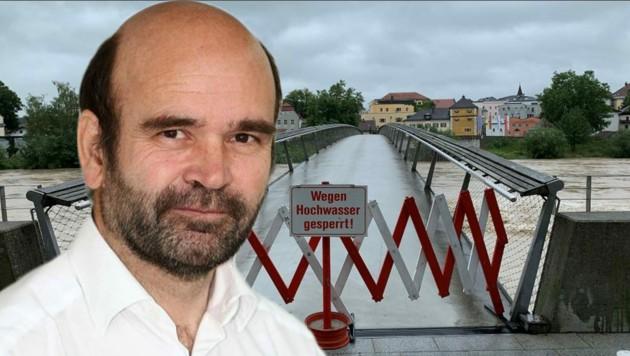 Hochwasser-Experte Hans Wiesenegger leitet den Hydrografischen Dienst im Bundesland Salzburg.
