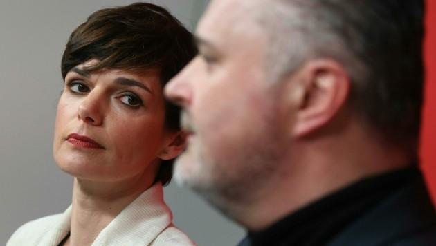 SPÖ-Chefin Pamela Rendi-Wagner (r.) mit Burgenlands Landeshauptmann Hans Peter Doskozil