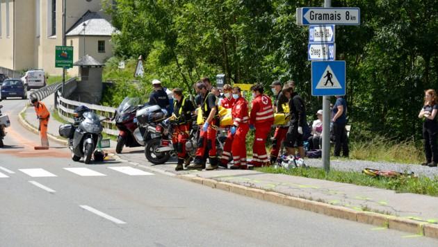 Der Deutsche musste mit schweren Verletzungen in die Klinik Kempten geflogen werden.