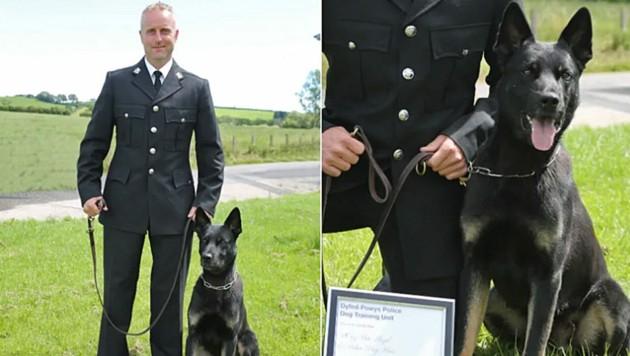"""Peter Lloyd und Polizeihund """"Max"""""""