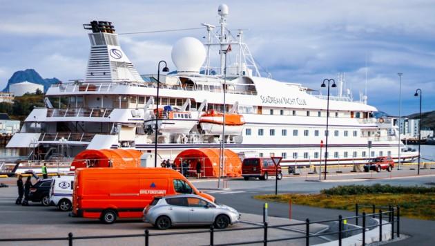 """Die """"SeaDream 1"""" ging im norwegischen Bodø vor Anker."""