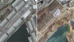 Das Ausmaß der Zerstörung ist gewaltig. (Bild: APA/AFP/Satellite image ©2020 Maxar Technologies/Handout)