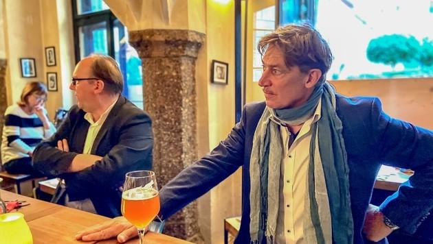 """Viermal spielte Tobias Moretti (re) den """"Jedermann"""". Trotz laufender Festspiele in Salzburg gab er auch Innsbruck die Ehre. (Bild: Berger Hubert)"""
