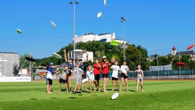 """Das """"Ultimate Frisbee""""-Team rund um Sandra Zaborsky setzt auf Fairplay."""