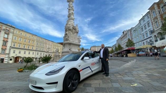 """""""Free Now"""" ist mit 25 Autos in Linz unterwegs"""