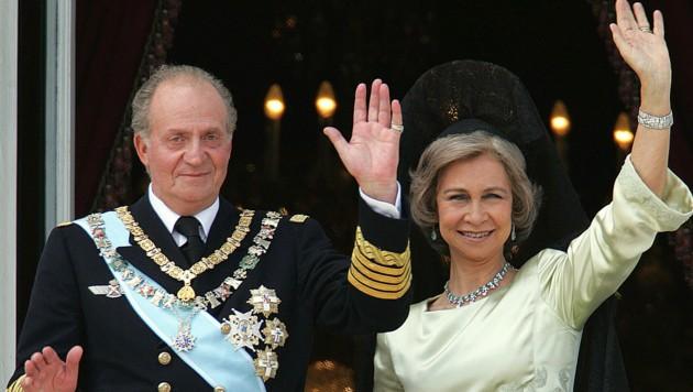 Altkönig Juan Carlos of Spain und Altkönigin Sofia (Bild: AFP)