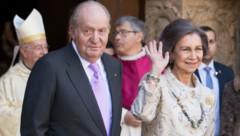 Altkönig Juan Carlos von Spanien und Altkönigin Sofia (Bild: AFP)
