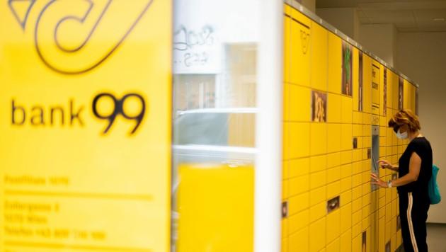 """Die neue """"bank99"""" kratzt an den Gewinnen der Post im ersten Halbjahr 2020. (Bild: APA/GEORG HOCHMUTH)"""