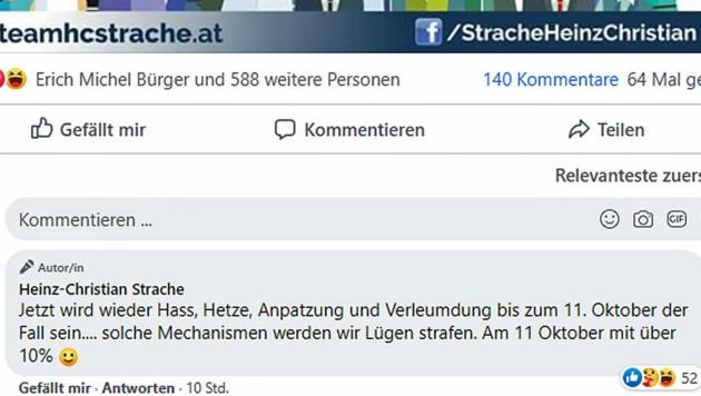 (Bild: Facebook.com/Strache)