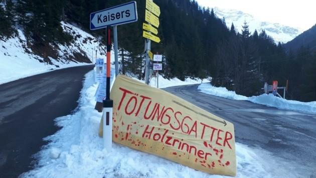 Demonstranten taten in Kaisers ihre Unmut kund. (Bild: ZvG)