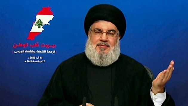 Der libanesische Hisbollah-Chef Hassan Nasrallah wies jegliche Verantwortung für die Explosion in Beirut zurück.