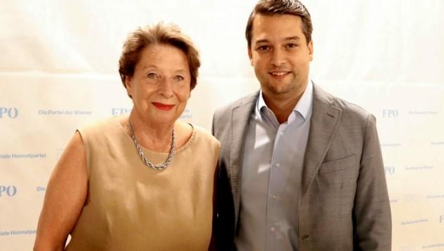 Ursula Stenzel und der Wiener FPÖ-Chef Dominik Nepp