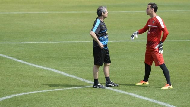 Marcel Koller und Heinz Lindner einst beim österreichischen Nationalteam vereint (Bild: APA/ROBERT JAEGER)